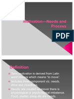 OB Motivation_Needs and Process