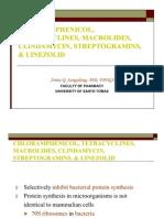 44 Chloramphenicol Tetracyclines Macrolides Clindamycin