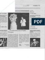 Recital. Periódico Aragón