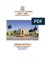 Courses in Osmania University