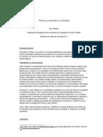 Prácticas Curatoriales en Colombia Propuesta Investigación Mincultura Iván Ordóñez 2011