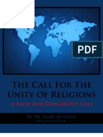 The Call for the Unity of Religions a False and Dangerous Call