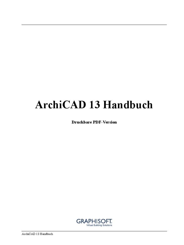 ArchiCAD-13 Handbuch