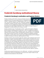 frederick herzberg motivational theory