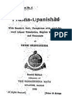 Prasna Upanishad - translated with notes by Swami Sharvananda
