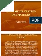 SYSTÈME DE GESTION DES FICHIERS (exposé)