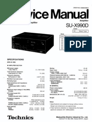 Technics SU-X990D Manual