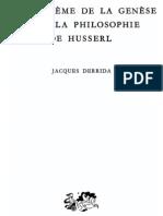 47437470-Derrida-Le-probleme-de-la-genese-dans-la-philosophie-de-Husserl