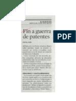 Fin a Guerra de Patentes