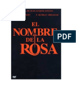 El Nombre de La Rosa-cinetaller Filo..