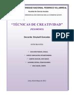 Resumen Tecnicas de Creatividad