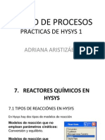 Reactores en Hysis