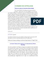 DICCIONARIO DE ASTROLOGÍA
