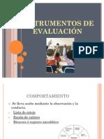 INSTRUMENTOS DE EVALUACIÓN # 85