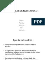 KONSEP & DIMENSI SEKSUALITI