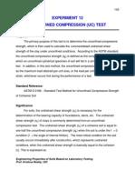 Experiment Unconfined Compression