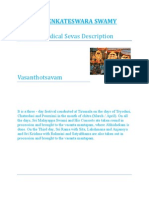 Sri Venkateswara Swamy Periodical Sevasa
