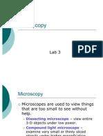 Lab 3 Microscopy