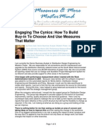 CASESTUDY-Engaging The Cynics_How to Build Buy in to Choose and Use Measures That Matter