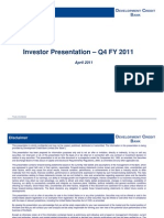 Investor Presentation q4 Fy 2010 2011 13 April 2011