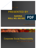 Corporate Social Responsibility- s