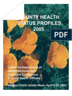 California County Health Status Profiles 2005