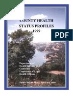 California County Health Status Profiles 1999