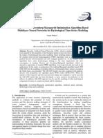 Application of Levenberg-Marquardt Optimization Algorithm Based Multilayer Neural Networks for Hydrological Time Series Modeling