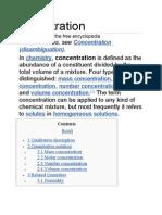 Concentration Molar Ratio