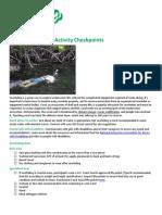 Snorkeling Safety Activity Checkpoints 2010