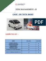 Mm -II Case on Tata Nano