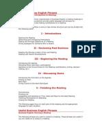 Useful Business English Meetings Phrases