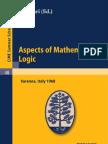Aspects of Mathematical Logic