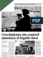 Crecimiento Sin Control Amenaza El Legado Inca