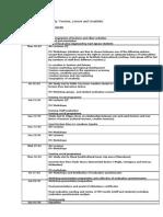 Draft Programme