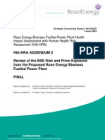 Rose Energy Power Plant HIA Addendum 2