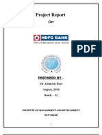 Project on HDFC Ltd. Bank (BL)