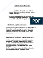 Meaning and Definition of Capital Structure