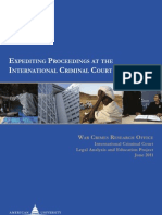 Expediting Proceedings at the International Criminal