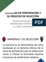 BARRENAS DE PERFORACIÓN Y SU PROCESO DE SELECCIÓN