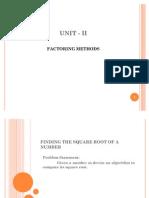 Factoring methods