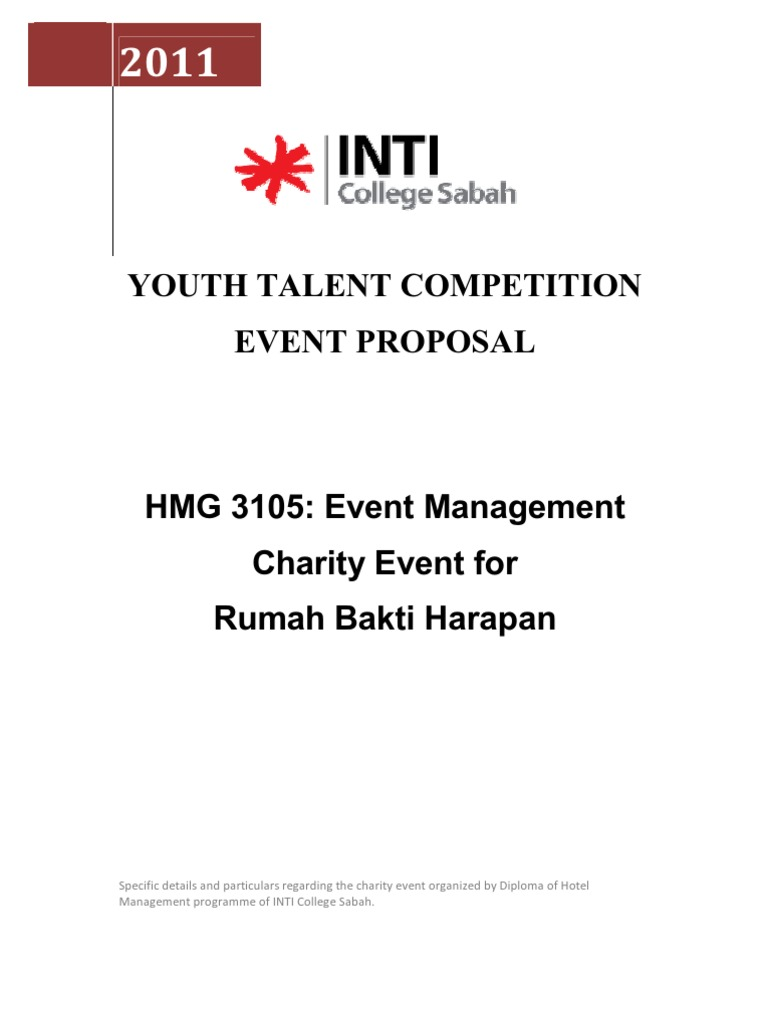 Event Plan and Proposal Foundation for Youth Development – Proposal for an Event