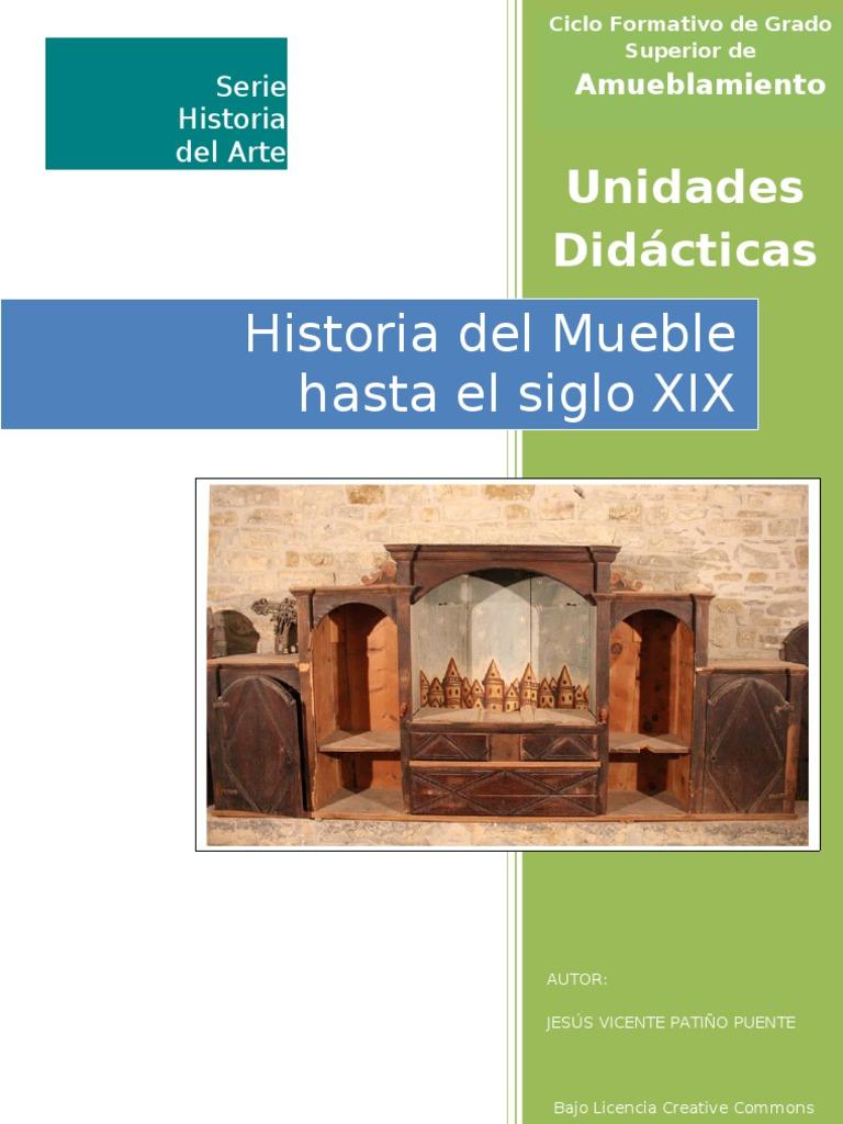 Historia del mueble hasta el siglo xix unidades didactic as for Historia del mueble pdf