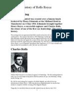 History of Rolls Royce