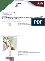 2005 La salud pública hoy según dilemas y enfoques - Universidad Nacional de Colombia (Bogotá)