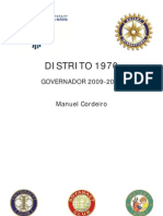 Distrito Rotário 1970 - Governador 2009-2010 - Manuel Cordeiro