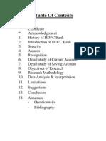 Hdfc Bank Pro Report
