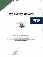Classic ID IDX Instruction Manual