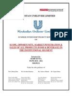 Hindustan Unilever Ltd OOH Division SIP Report