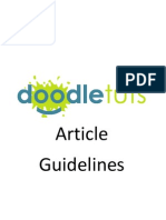 Article Guidelines